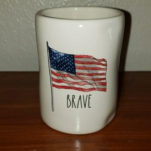 Rae Dunn American Flag Brave Candle